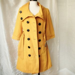Yellow Double Breasted Jacket